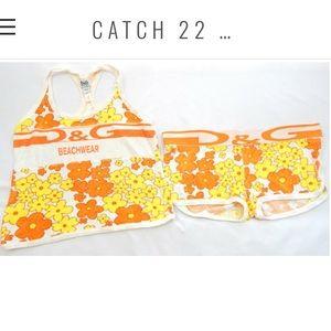 77ddabd2ebe ... D G Beachwear Floral Print Set Sz 40 36 (US ...
